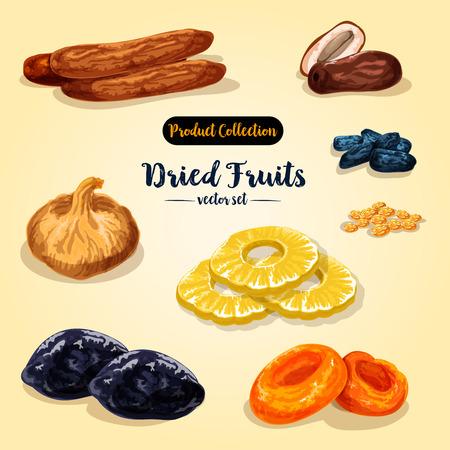 Conjunto de frutos secos y bayas confitadas Foto de archivo - 85641728