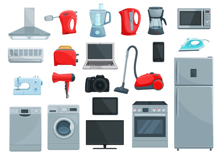 Home appliance icons set.