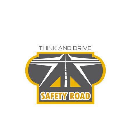 Veiligheids weg geïsoleerd pictogram met snelweg kruispunt Stockfoto - 86250978