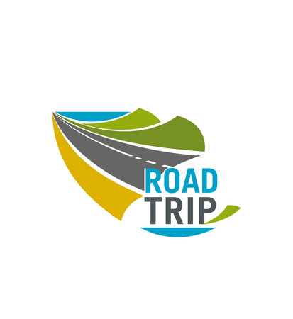 Road trip and car journey icon for travel design