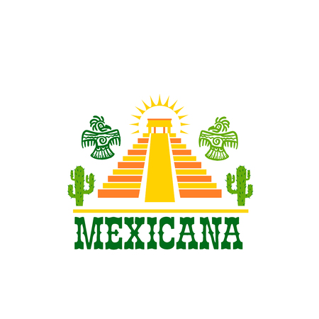 Mexican food isolated icon of national restaurant Ilustracja