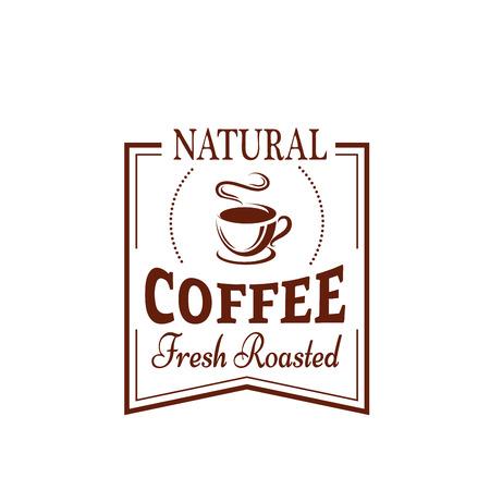 음식과 음료 디자인을위한 커피 컵 라벨 일러스트