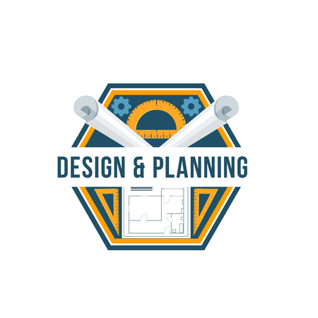 Building design and architectural planning badge