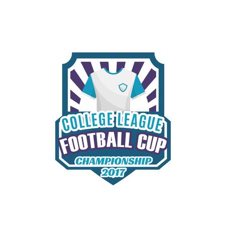 Voetbal of voetbal sport spel schild label ontwerp
