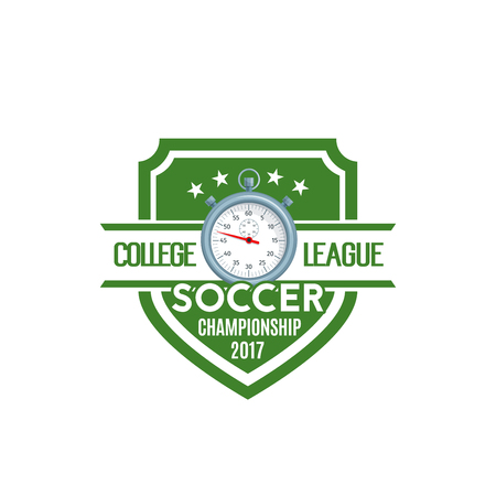 Soccer shield label of football sport game team