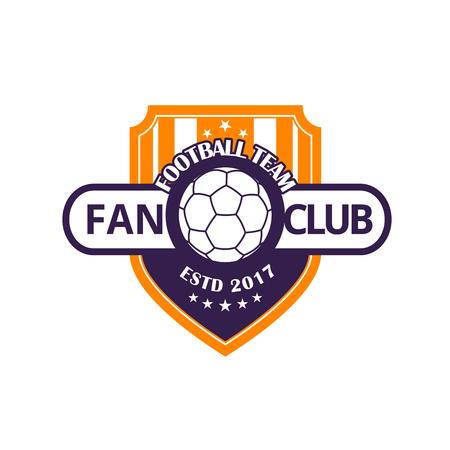 Fußballmannschaft oder Fußballsportspielvereinabzeichen