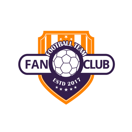 Football team or soccer sport game club badge
