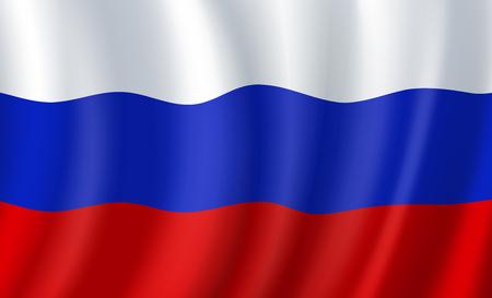 Rusland 3D vlag. Vector Russisch Nationaal Symbool