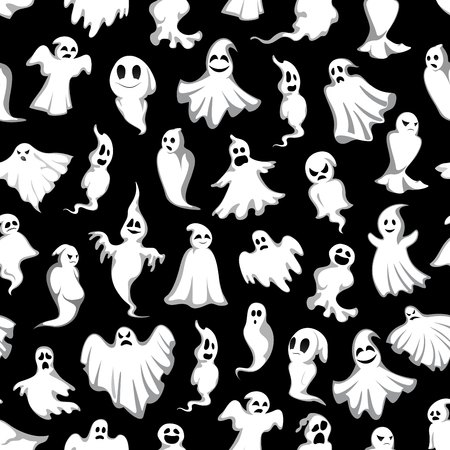 Halloween vector spooky party ghost pattern