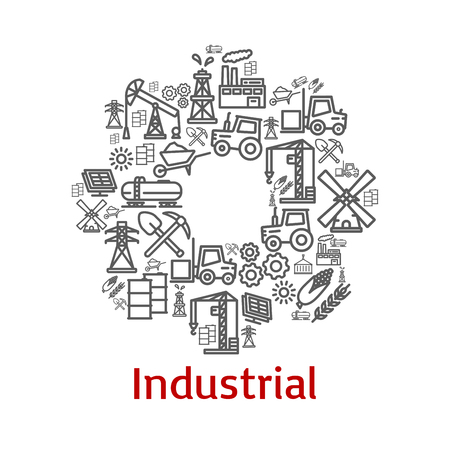 Industrial agriculture icons