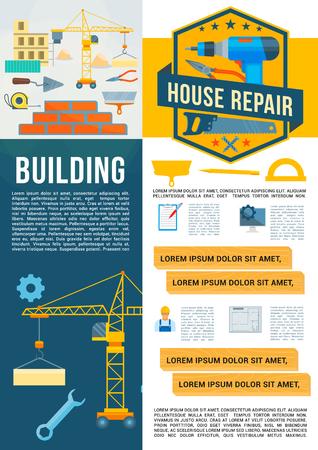 Vector outils de travail de construction de bâtiment Banque d'images - 86750038