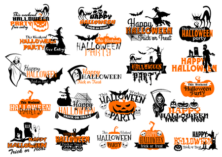 Icons for Happy Halloween holiday party