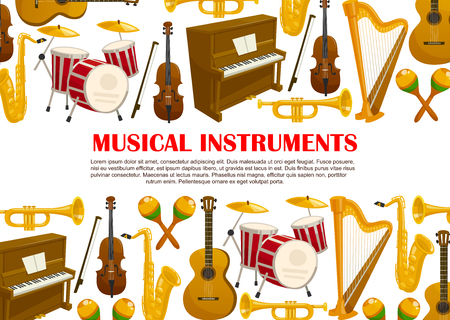 Music poster of musical instruments