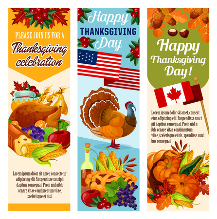 Thanksgiving day vector with flags.