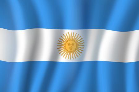 Vector 3D flag of Argentina national symbol