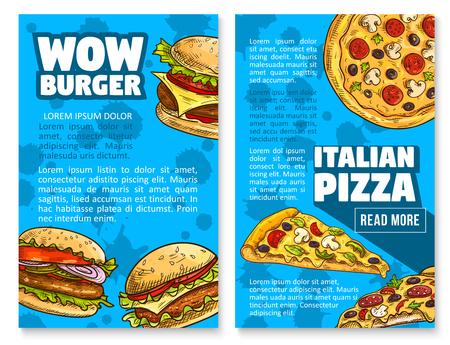 Restaurante de hamburguesa de restaurante de comida rápida de vector Foto de archivo - 87271197