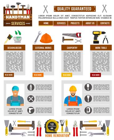 Vector poster for home building construction Illusztráció