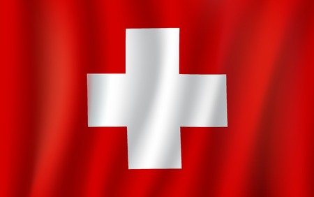 Vector 3D flag of Switzerland national symbol