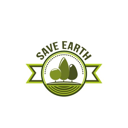 Ecologie milieu groene groene boom pictogram Stock Illustratie
