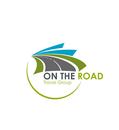 Tourist travel agency road trip vector icon