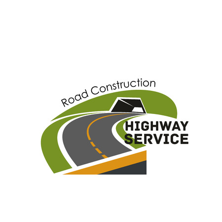 Road highway construction service vector icon