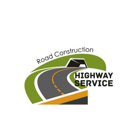 Road highway construction service vector icon