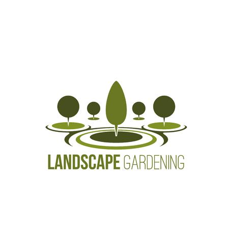 Tuinieren boom tuinbouw bos vector pictogram