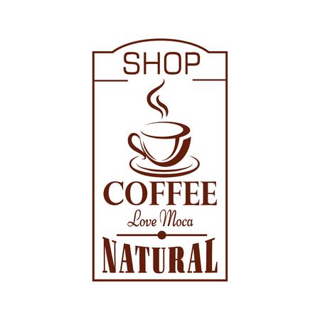 Cafe vector icon of cofee shop cup steam