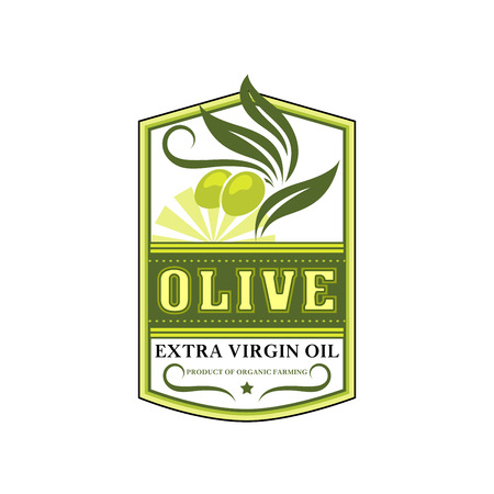 Olives icon for vector ilive oil product label