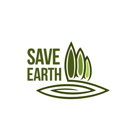 緑の地球の木生態ベクトル環境アイコン  イラスト・ベクター素材
