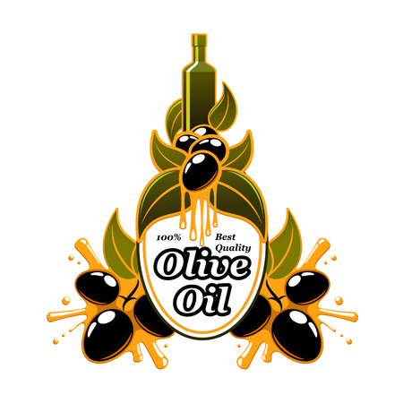 Olive oil vector olives extra virgin product icon