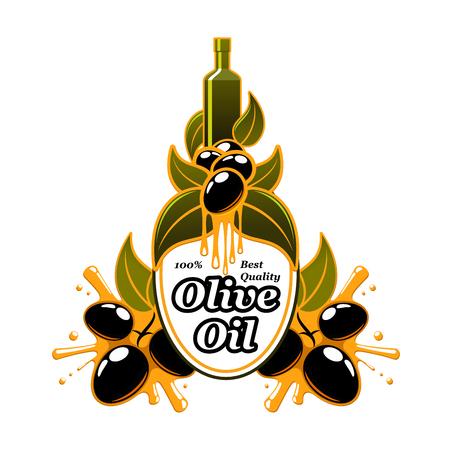 leaf logo: Olive oil vector olives extra virgin product icon