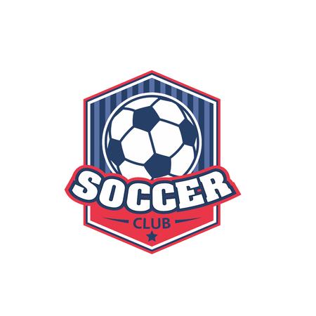 Soccer football club vector shield ball icon