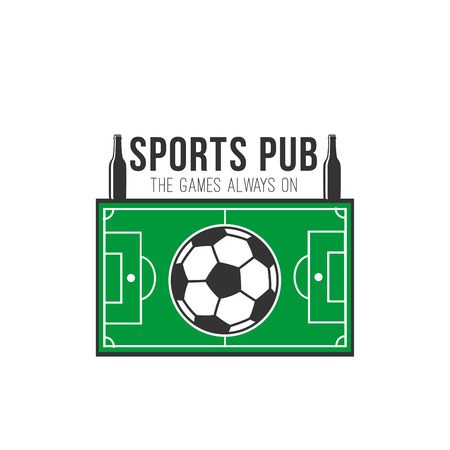 Soccer sports pub football fan bar vector icon