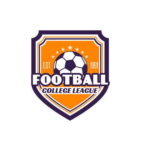 Football college league soccer badge vector icon
