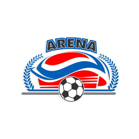 Arena soccer or football sport stadium vector icon Ilustracja
