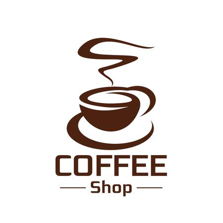 コーヒー ショップ コーヒー カップ蒸気ベクトル アイコン  イラスト・ベクター素材