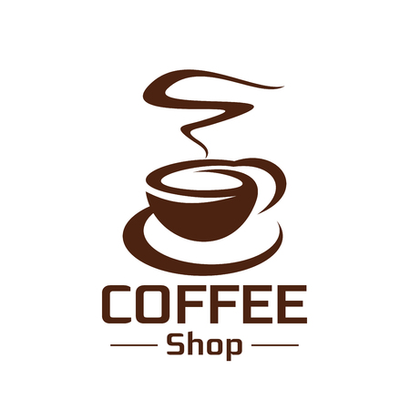 Coffeeshop coffee cup steam vector icon