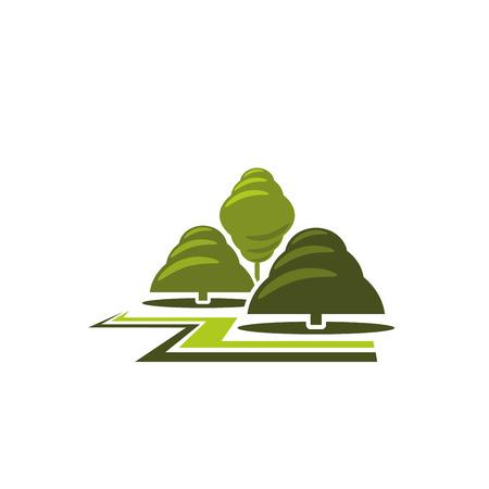 緑の木公園造園ベクトル アイコン