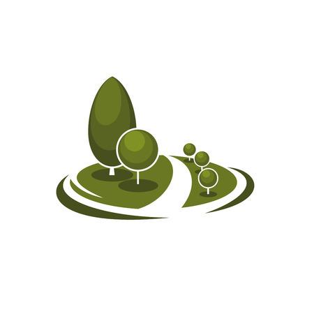 Tree park garden eco landscape vector icon