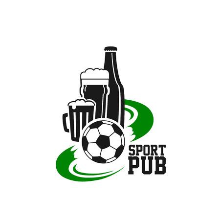 스포츠 맥주 펍 격리 아이콘