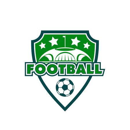 Football soccer club sport badge ball vector icon
