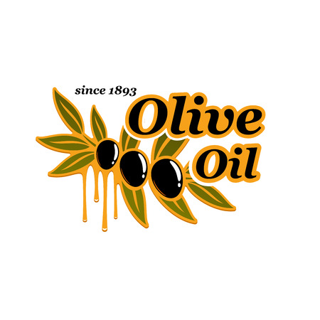 Olive oil cooking olives product vector icon Illustration