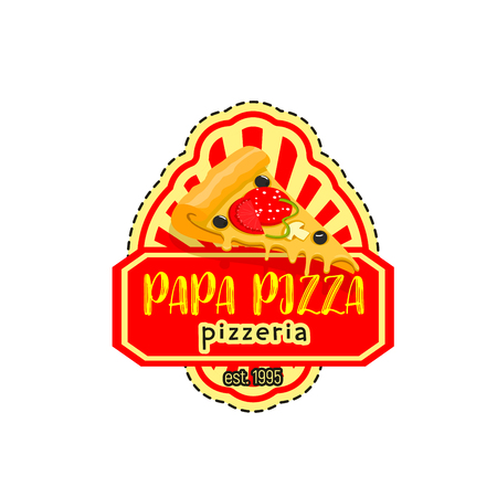 oregano: Papa pizza pizzeria italian vector icon Illustration