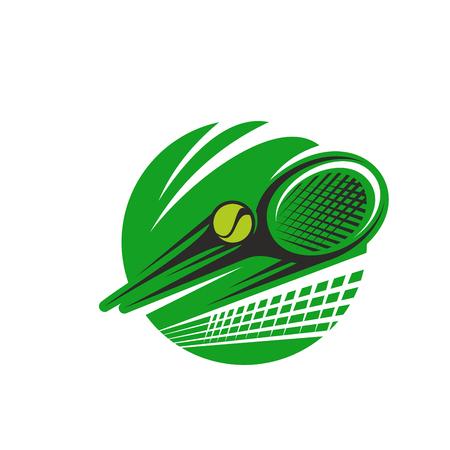 테니스 공 및 라켓 스포츠 팀 클럽 벡터 아이콘