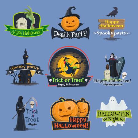 Halloween-truc of behandelings vakantie vectorpictogrammen Vector Illustratie