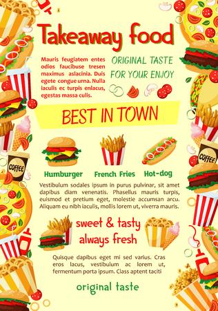 Fast food burger and drink banner template Zdjęcie Seryjne - 88065656