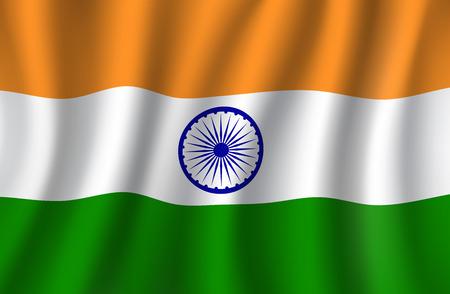 Bandera de la India 3d, bandera nacional de la India Foto de archivo - 88065667