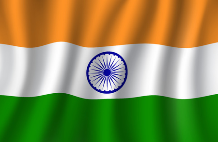 Indian flag 3d , national banner of India Ilustracja