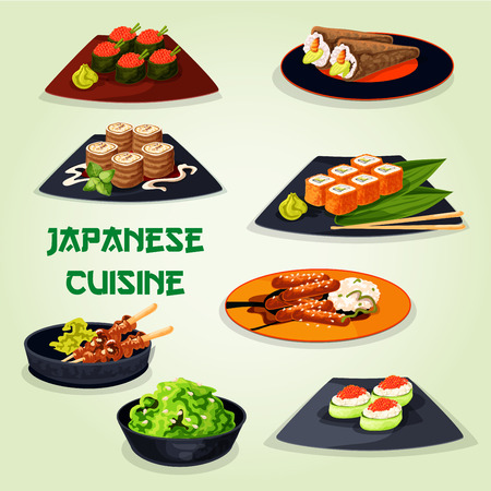 Japanese cuisine icon for asian food design Illustration